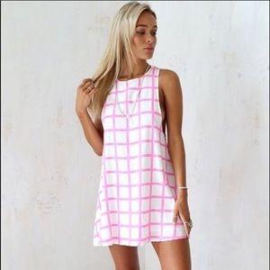Sabo Skirt pomegranate grid dress (new w tags)